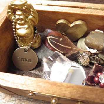 Buddha Box / Meditation Box / Altar Box / Buddha in a Box / Meditation Kit / Buddha / Meditation / Boho Box / Bohemian Decor