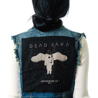 Kill City Dead Sara Cutoff Vest Black