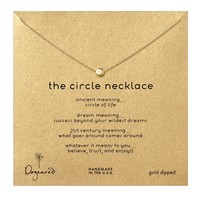 Dogeared Circle Necklace, Gold Dipped