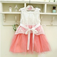 Vintage Inspired Girls Clothes Darling Angele Pink Dress | Vindie Baby
