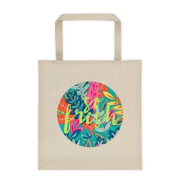 So Fresh Colorful Floral Tote Bag