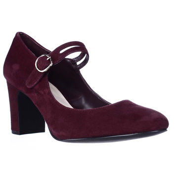 A. Hillaree Mary Jane Heels - Malbec Wine