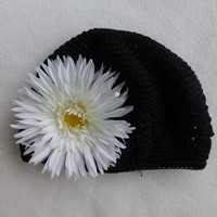 Kufi Hat/Beanie Hat Toddler Black and White