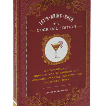 Chronicle Books Vintage Inspired Let's Bring Back Cocktail Edition
