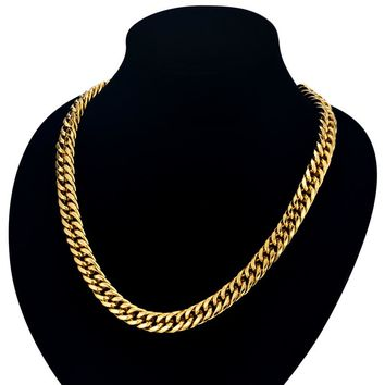 8mm Curb Link Necklace