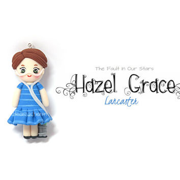 The Fault In Our Stars Hazel Grace Lancaster Chibi Charm Miniature. Polymer Clay Hazel Grace TFIOS. 100% Proceeds to Benefit Youcaring.com