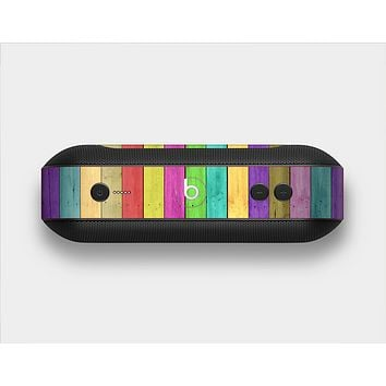 The Thin Neon Colored Wood Planks Skin Set for the Beats Pill Plus