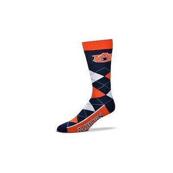 NCAA Auburn Tigers Argyle Unisex Crew Cut Socks - One Size Fits Most
