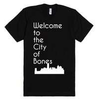 Welcome to the City of Bones-Unisex Black T-Shirt