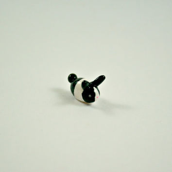 Micro Bunny - Hand Sculpted Miniature Polymer Clay Animal