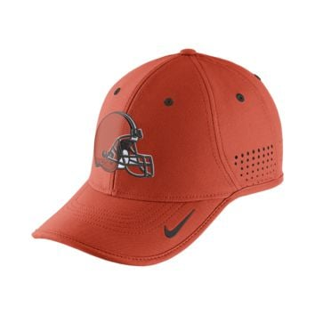 Nike True Vapor (NFL Browns) Adjustable Hat (Orange)