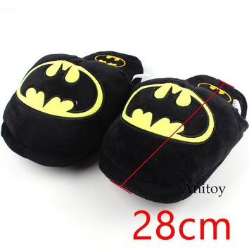 Batman Dark Knight gift Christmas Superhero Batman Plush Shoes Home House Winter Slippers for Children Women Men Plush Doll 28cm AT_71_6