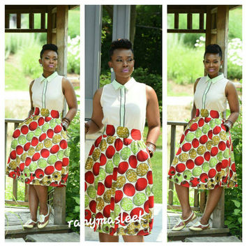 NEW Rahyma Fruit Eyelet Skirt African print Skirt