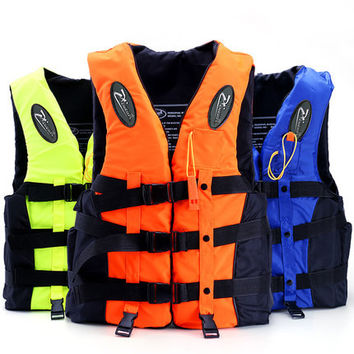 Professional Life Vest For Kids & Women & Men Fishing Safety Jackets Watersport Vests with Whistle