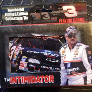 A collector's tin with 2 decks of cards of Dale Earnhardt the Intimidator