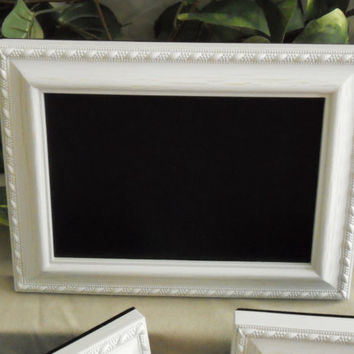 Small white framed chalkboard, framed chalkboard, white chalkboard, white chalk board, framed chalk board, wedding chalkboard, menu board