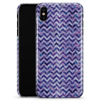 Purple Basic Watercolor Chevron Pattern - iPhone X Clipit Case
