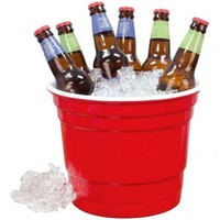 Red Party Cup Ice Bucket