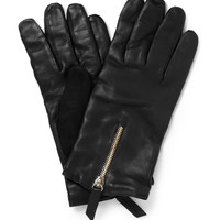 WANT Les Essentiels de la Vie Mozart Cashmere-Lined Leather and Suede Gloves | MR PORTER