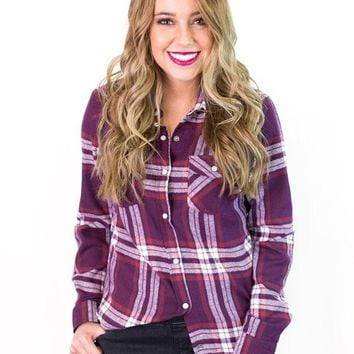 Didi Flannel Button Up Shirt