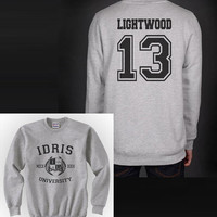 Lightwood 13 IDRIS University Shadowhunters The Mortal Instruments Unisex Crewneck Sweatshirt
