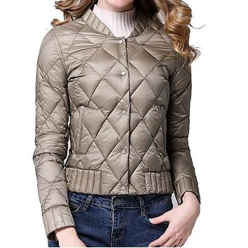 Ultra Light Winter Down Casual Jacket w/ Duck Feathers