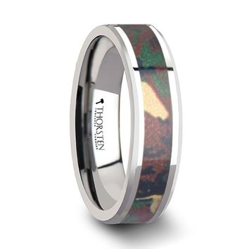 Military Jungle Camouflage Tungsten Wedding Ring