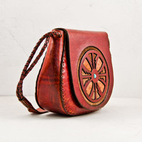Vintage Leather Purse Bag Boho Gypsy Chic Gift For Her Christmas Winter Finds