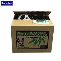 New Cartoon Panda Stealing Money Coins Storage Tank Piggy Bank Hot Sale Creative Craft Gift 12*10*9cm Money Box Coin Pot Jar