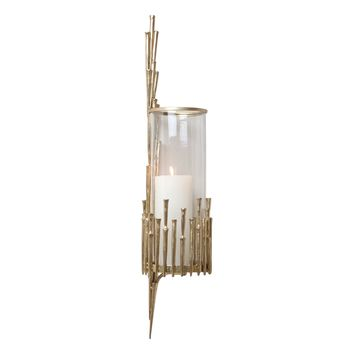Spike Antique Brass Candle Wall Sconce by Global Views