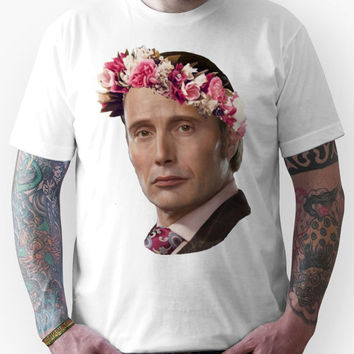 Hannibal Lecter Flower Crown Unisex T-Shirt