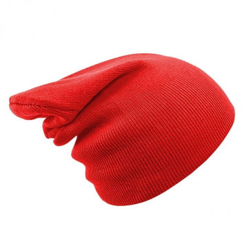 Unisex Casual Solid Stretchy Knitted Plain Beanie Hat Winter Fashion