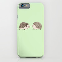 Two Hedgehogs iPhone & iPod Case by Sophie Corrigan