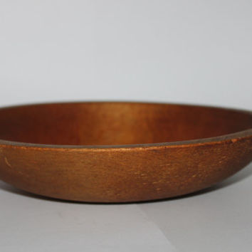 Vintage Antique Wood Bowl Solid Maple, Spice Bowl