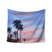 "Rosie Brown ""Florida Sunset"" Pink Blue Wall Tapestry"