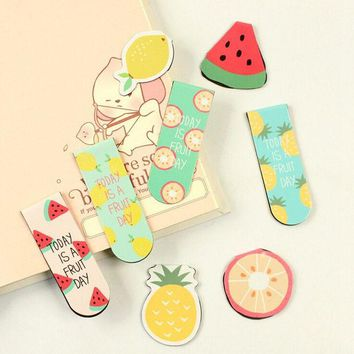DCCKL72 A44 Kawaii Cute Fruit Ice Cream Magnetic Bookmarks Books Marker of Page Stationery School Office Supply Student Rewarding Prize