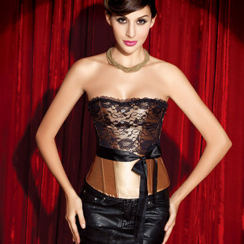 Body Shaper Waist Zippers Lace Sexy Palace Ladies Corset [4965273604]