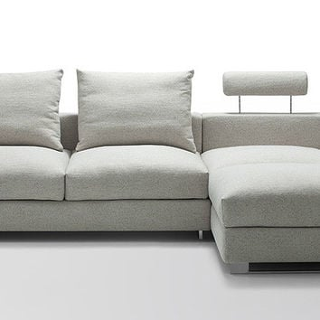 Divani Casa Vasto - Modern Fabric Down Feather Sectional