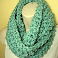 Soft Sage Cowl Infinity Circle Scarf Neckwarmer