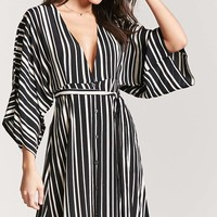Plunging Stripe Dress