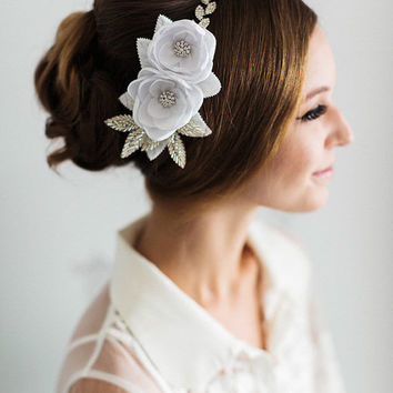 Bridal Hair Piece. Bridal Flower Headband.