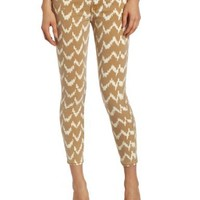 7 For All Mankind Women's Ikat Cropped Skinny Jean in Toffee, Toffee, 27