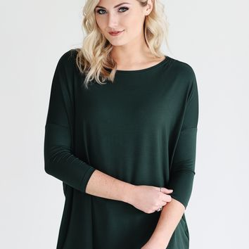 Moss PIKO 3/4 Sleeve Top