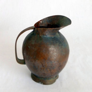 Copper  Jug Authentic / Antique.....Middle Eastern Hammered Copper
