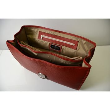 Tramontano Napoli Tuscan Calf Leather Briefcase Bag