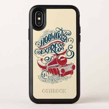Harry Potter | Hogwarts Express Typography OtterBox Symmetry iPhone X Case