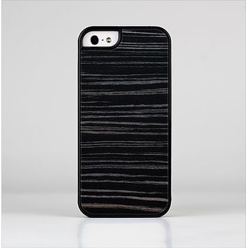 The Black Wood Texture Skin-Sert Case for the Apple iPhone 5/5s
