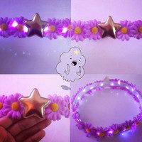 LSP Lumpy Space Princess LED Flower crown for EDC Coachella raves and music festivals Adventure time cosplay