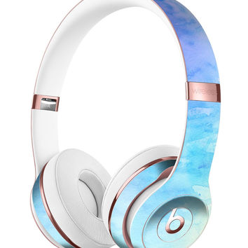 Teal 42234 Absorbed Watercolor Texture Full-Body Skin Kit for the Beats by Dre Solo 3 Wireless Headphones