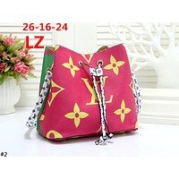 LV 2019 new female models wild full printed logo bucket bag shoulder diagonal package #2